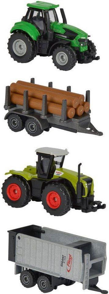 Majorette Spielfahrzeuge Traktoren mit Anhänger, »Farm Set«