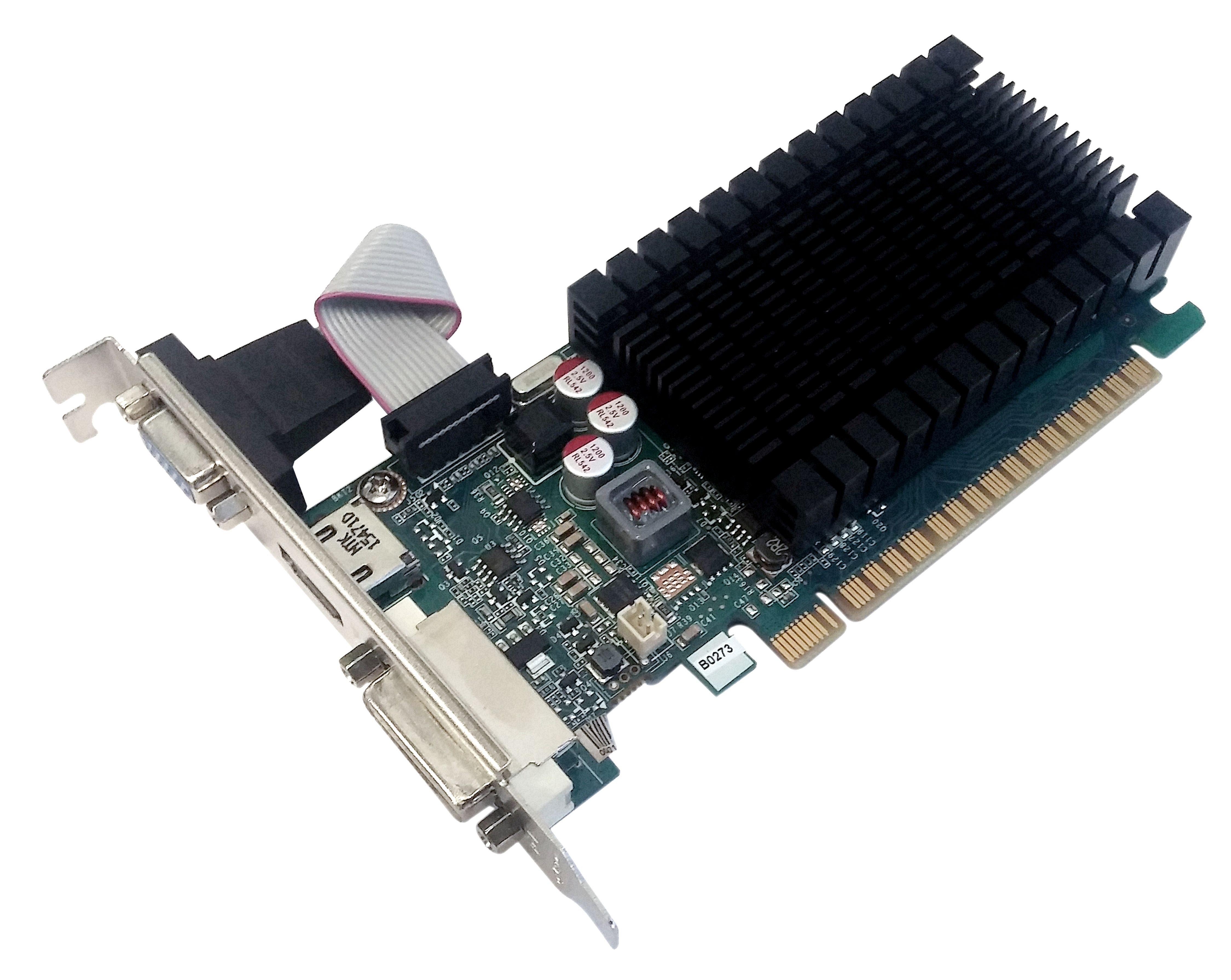 PNY Grafikkarte GF710GTLH2GEPB »GeForce GT 710 (2 GB GDDR3)«