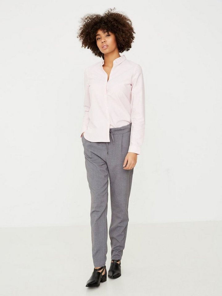 Vero Moda Loose-Fit- Hose in Medium Grey Melange
