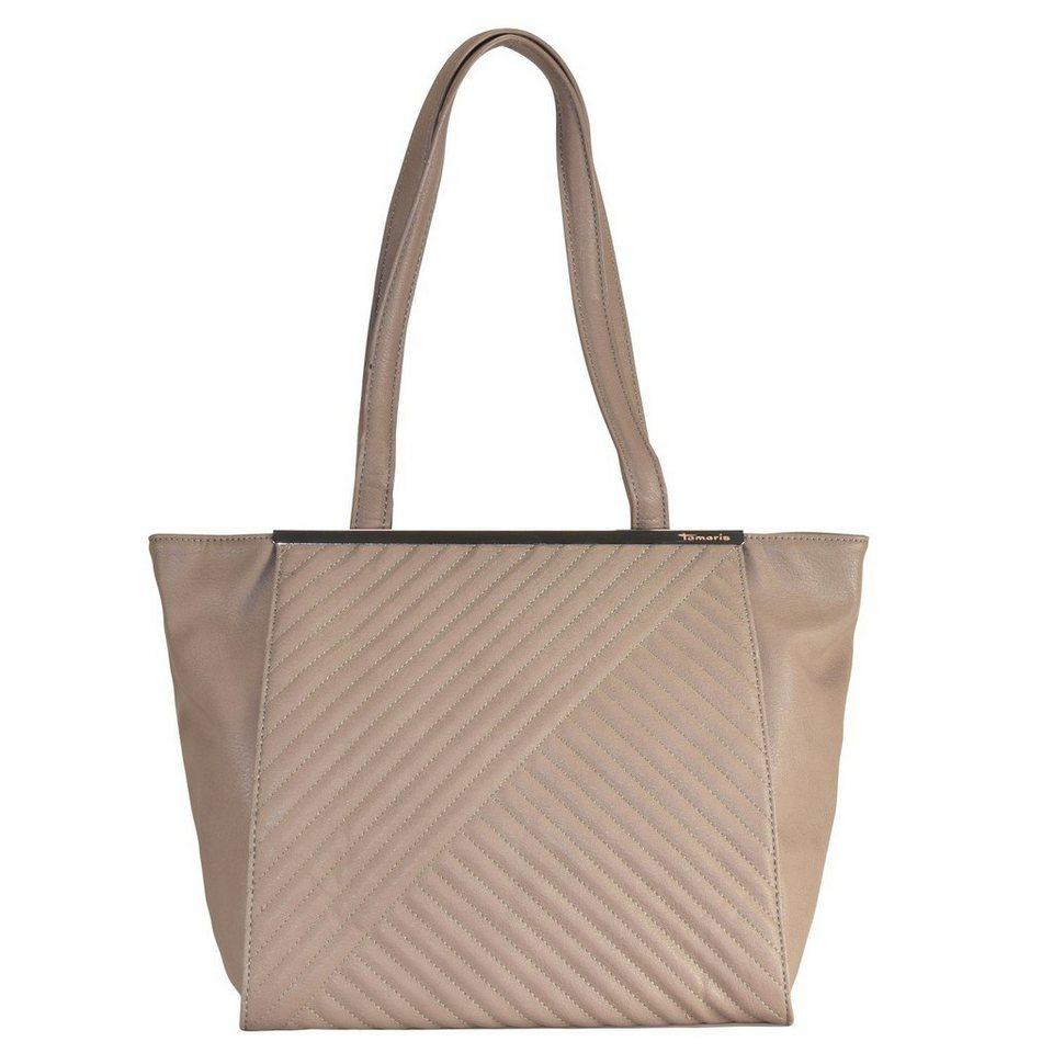Tamaris Lilia Shopper Tasche 39 cm in taupe