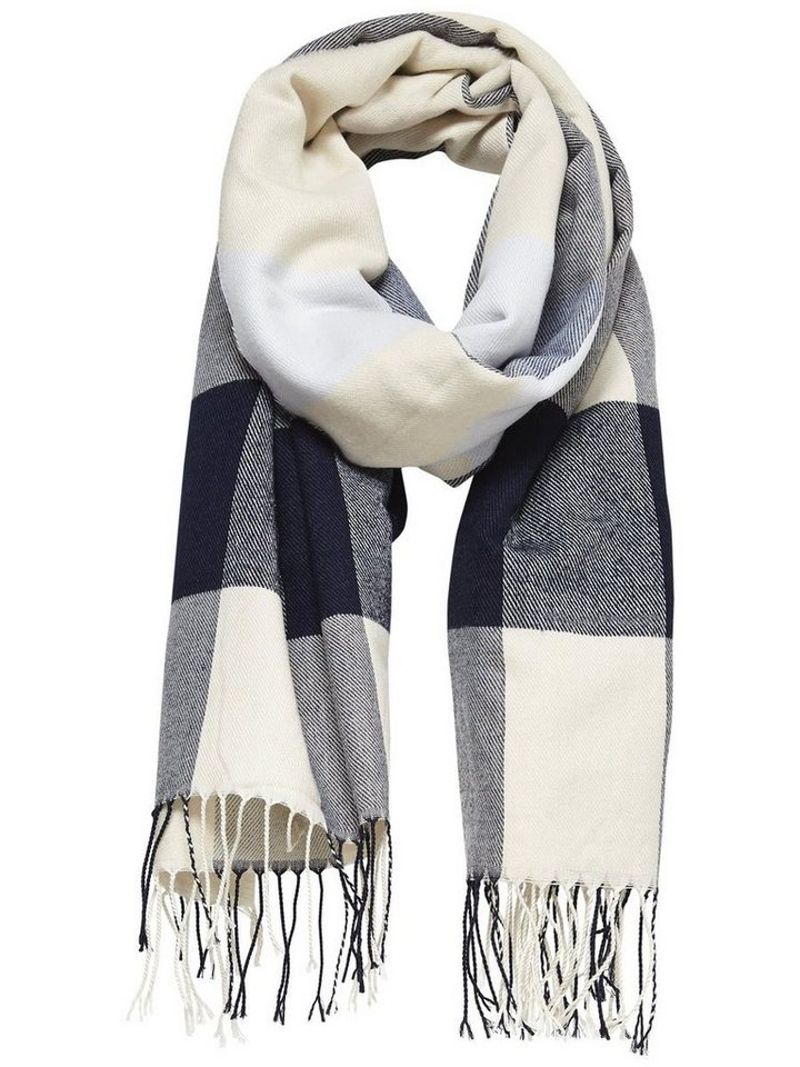 Only Karierter Schal in Whitecap Gray 1