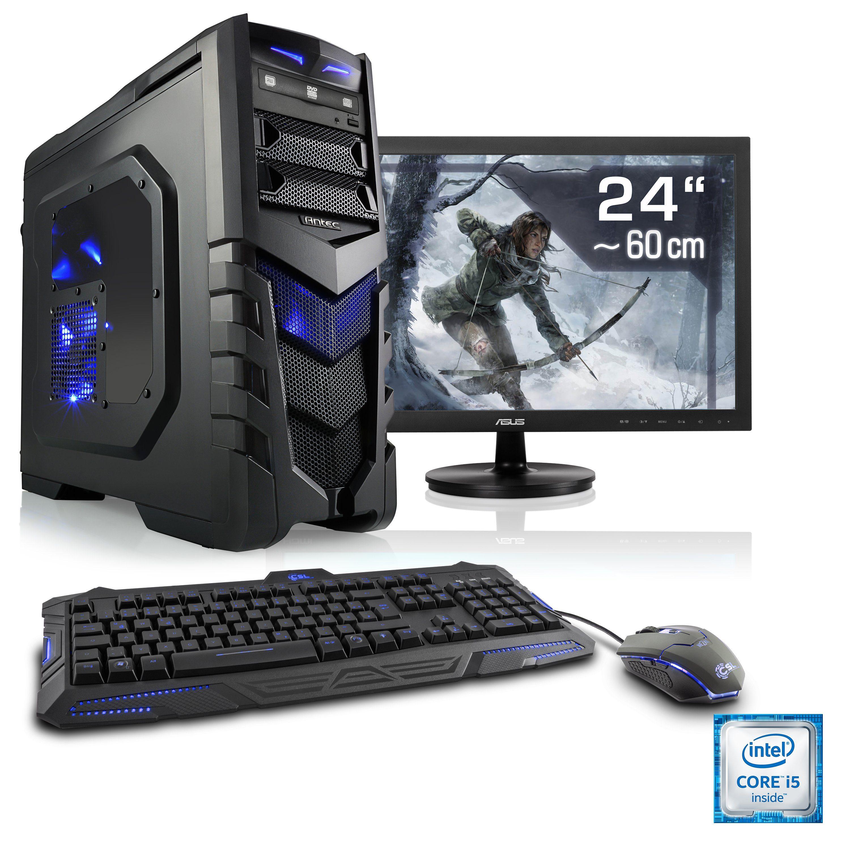 "CSL Gaming PC Set | i7-6700 | GeForce GTX 1070 | 16 GB RAM | 24"" TFT »Speed T7688 Windows 10 Home«"