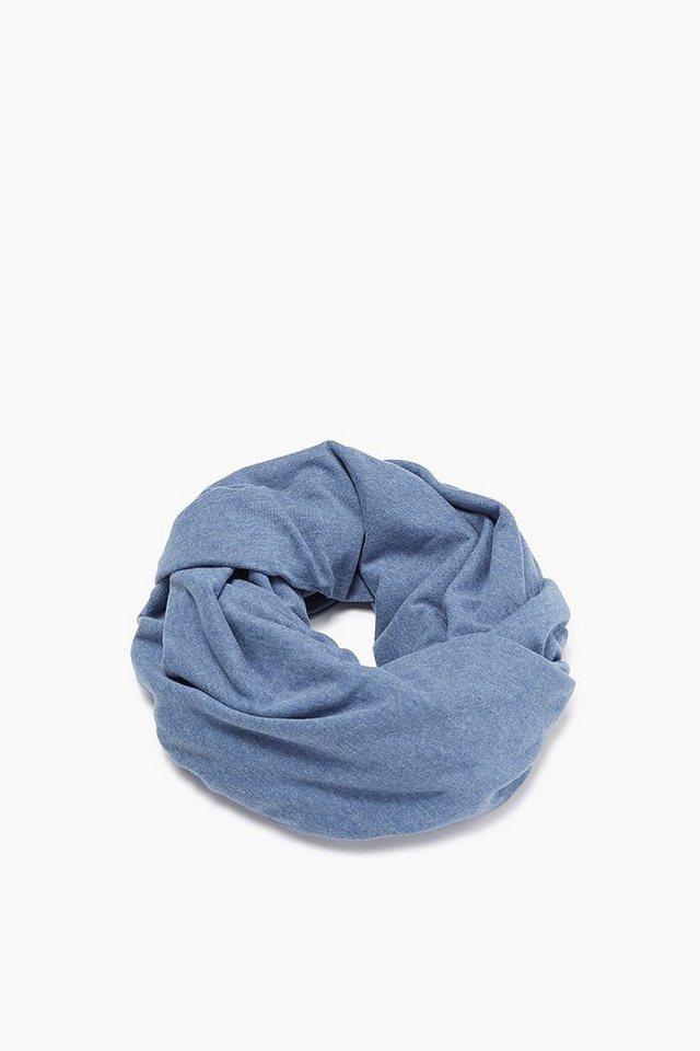EDC Loop-Schal aus peached Jersey in BLUE