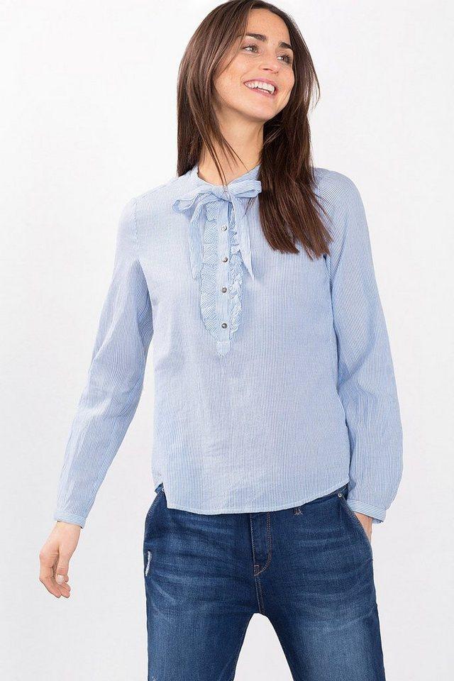 ESPRIT CASUAL Zarte Streifen-Bluse aus 100% Baumwolle in LIGHT BLUE