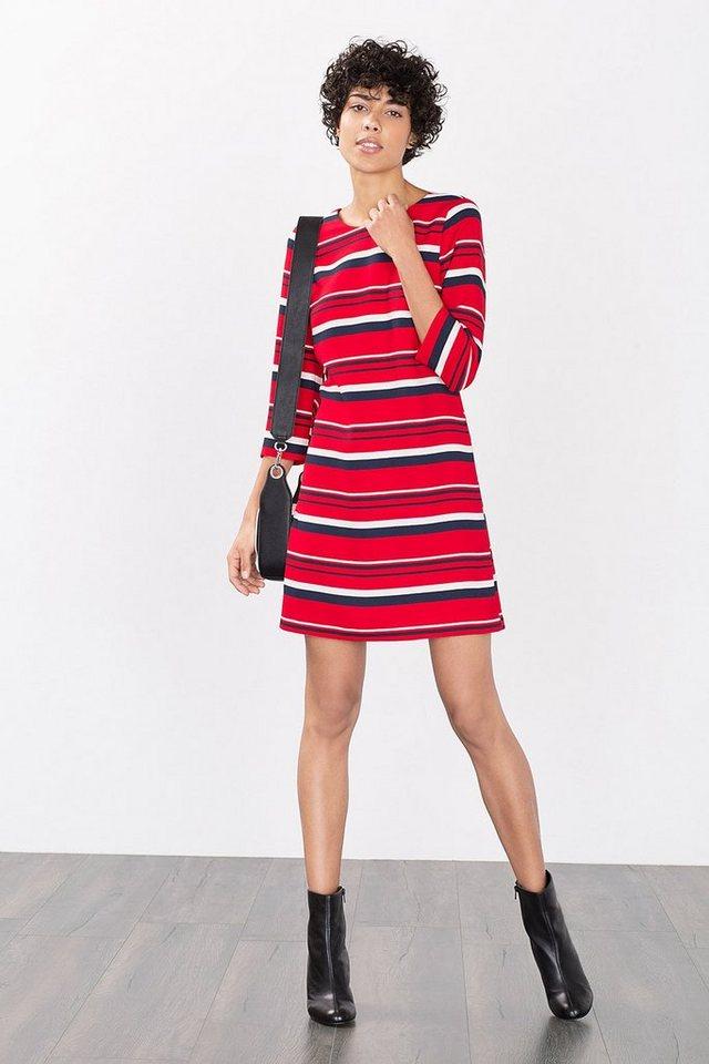 ESPRIT CASUAL Fließendes Kleid mit neuen Ringeln in DARK RED