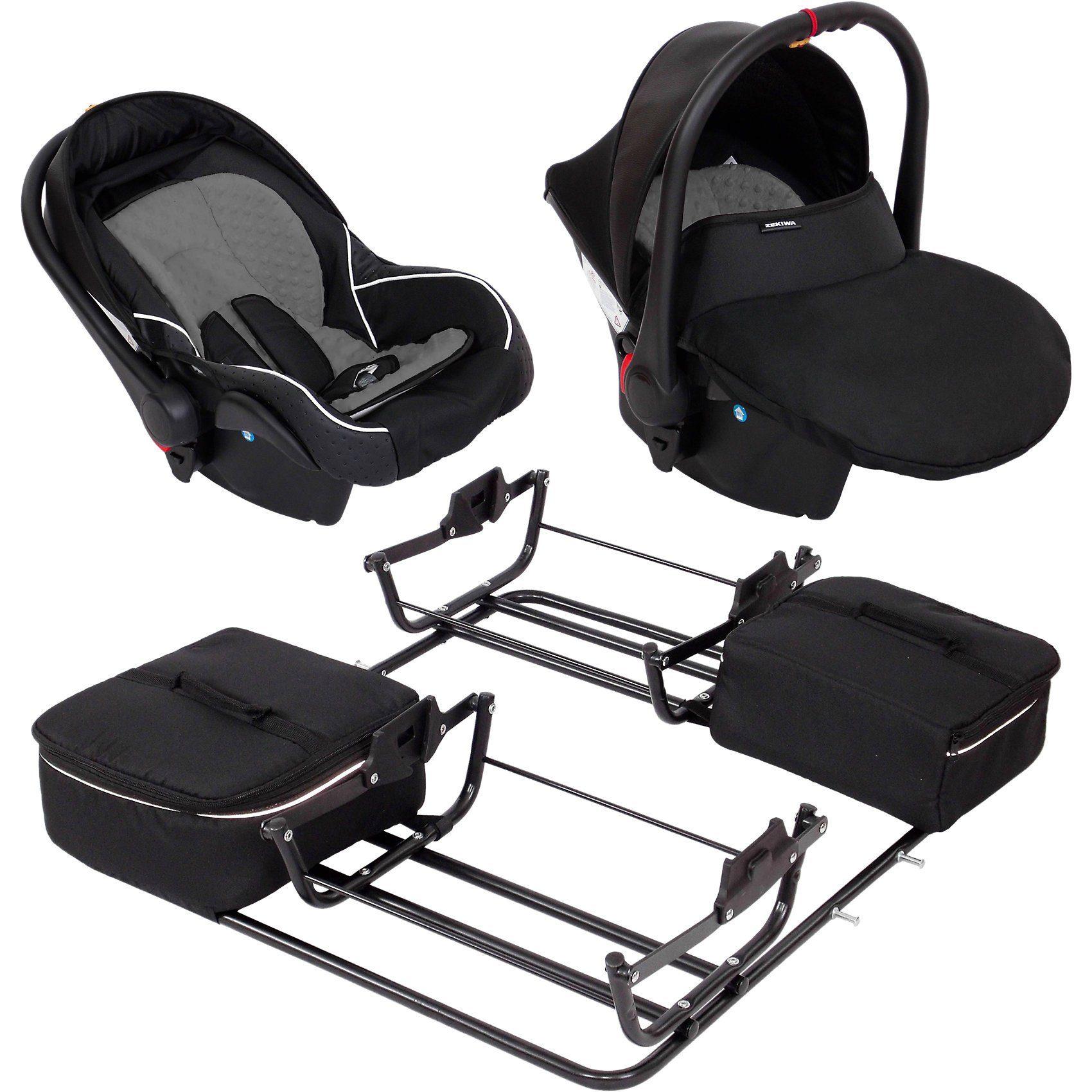 Zekiwa 2 Babyschalen ATS Comfort Plus inkl. Adapter für Zwillingswa