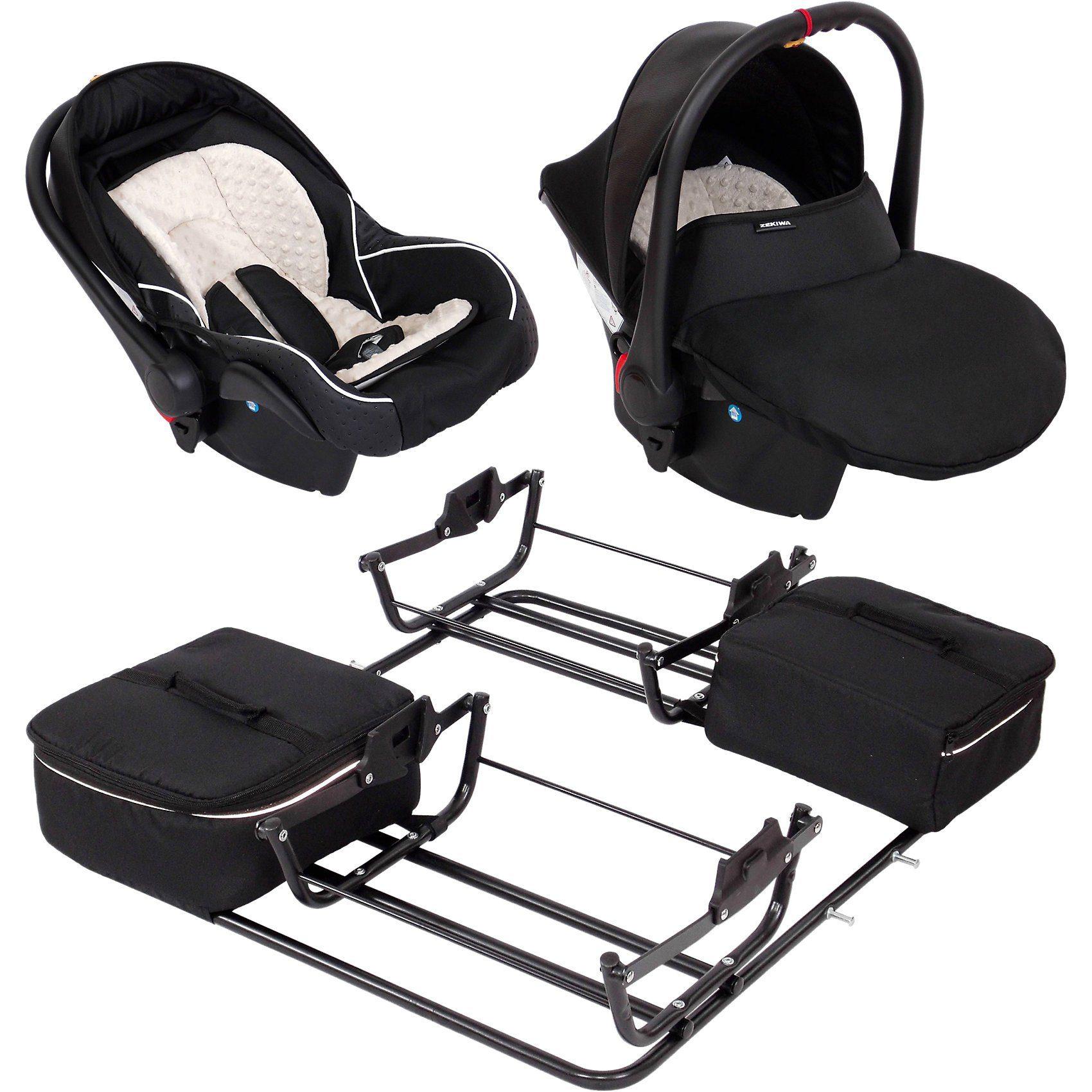 Zekiwa 2 Babyschalen ATS Plus inkl. Adapter für Zwillingswagen Spor