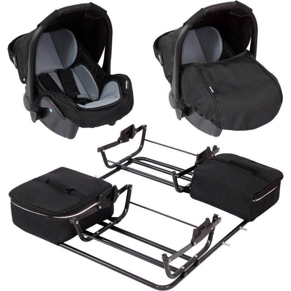 Zekiwa 2 Babyschalen ATS Plus inkl. Adapter für Zwillingswagen Spor in grau
