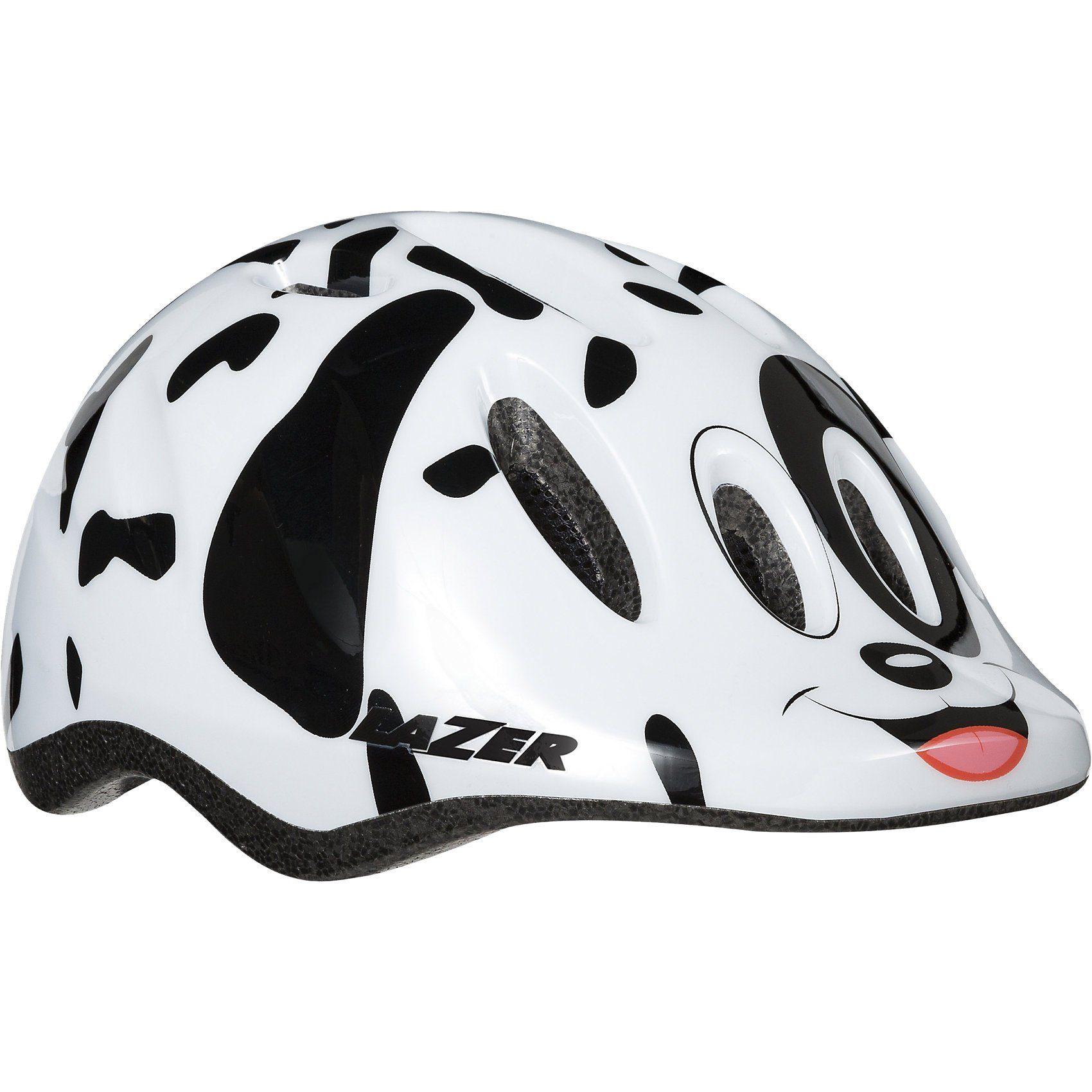 Lazer Fahrradhelm Max+ Puppy Gr. 49-56, weiß-schwarz