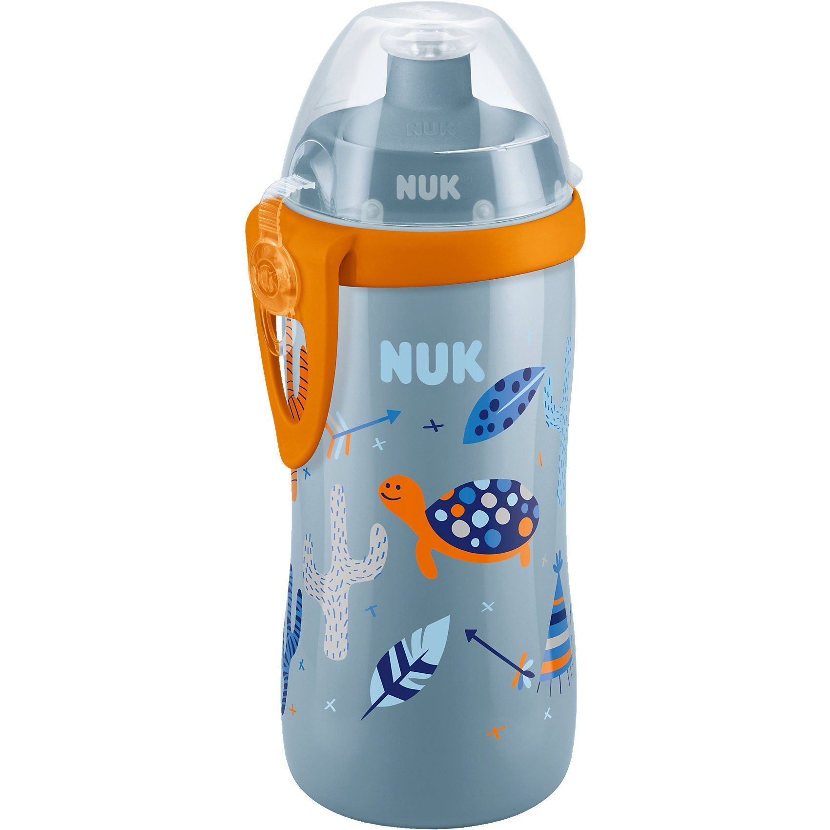 NUK Trinkflasche Junior Cup, PP, 300 ml, Push Pull Tülle, auslau