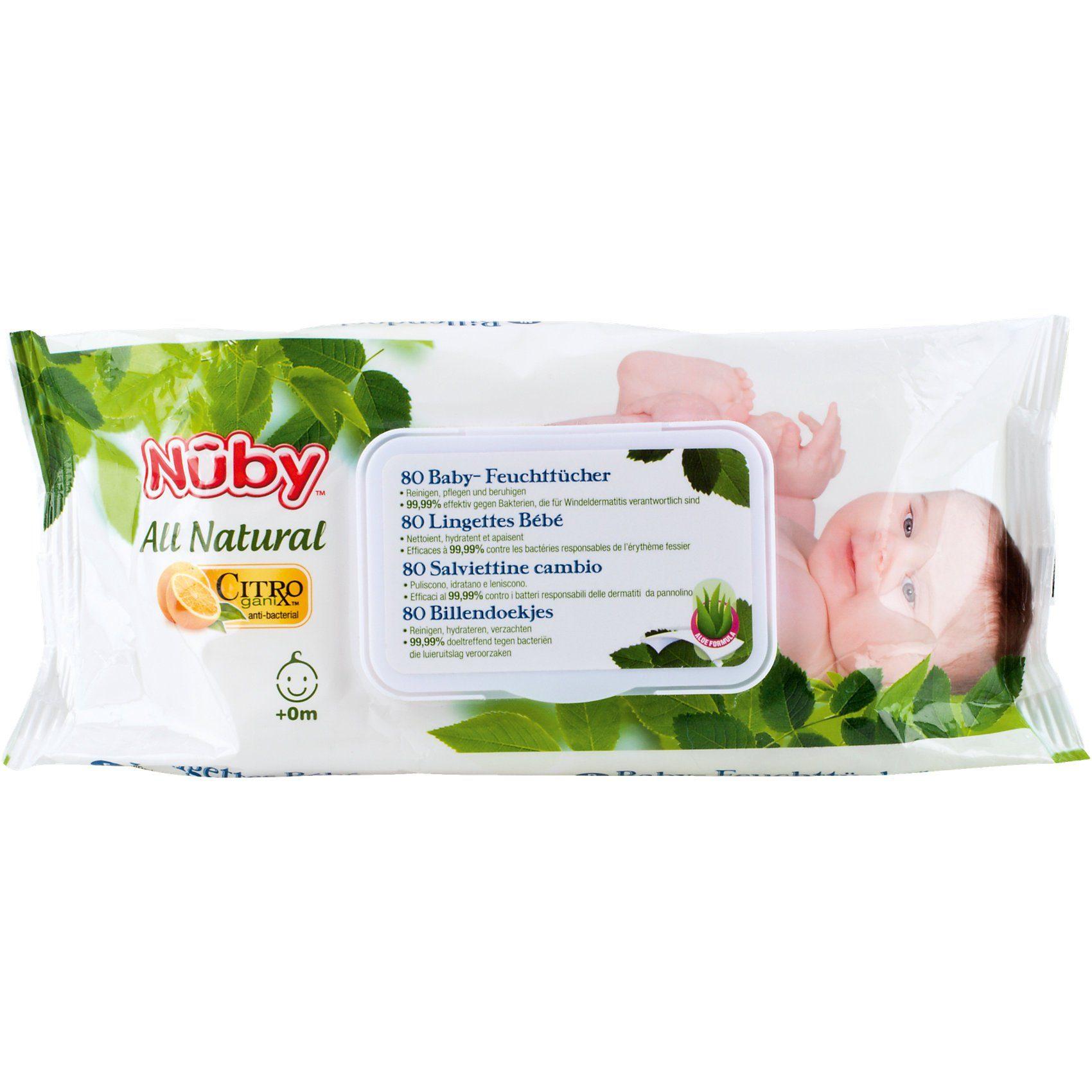 Nuby Baby-Feuchttücher All Natural , 2er Pack