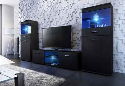 tv schrank schwarz. Black Bedroom Furniture Sets. Home Design Ideas
