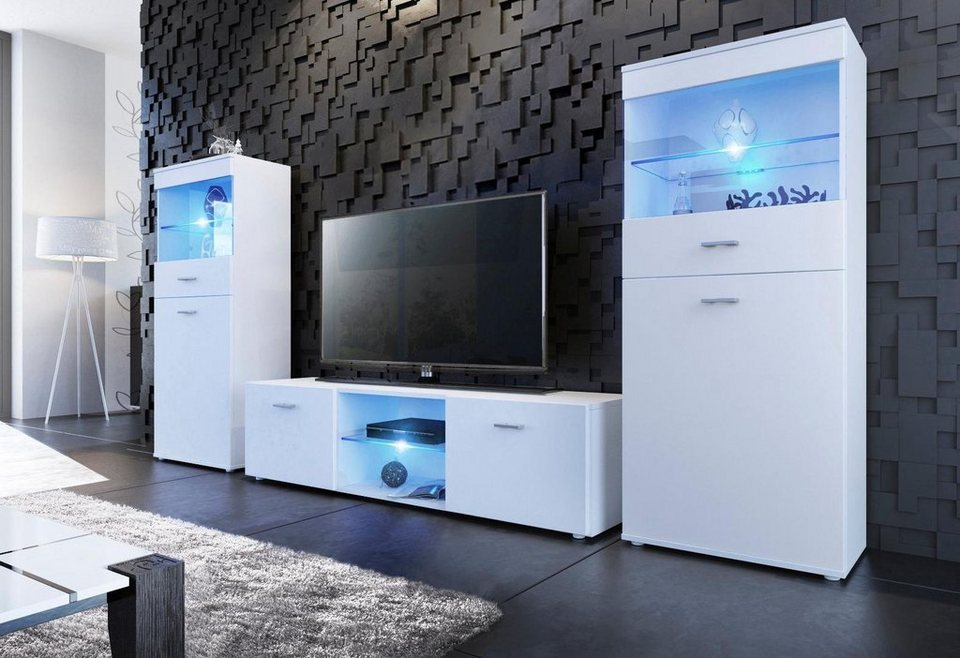 borchardt m bel tv wand made in germany 3tlg otto. Black Bedroom Furniture Sets. Home Design Ideas