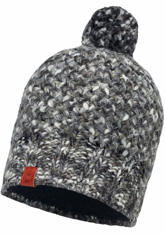 Buff Bommelmütze »Knitted Polar Fleece Hat« Mütze in grau