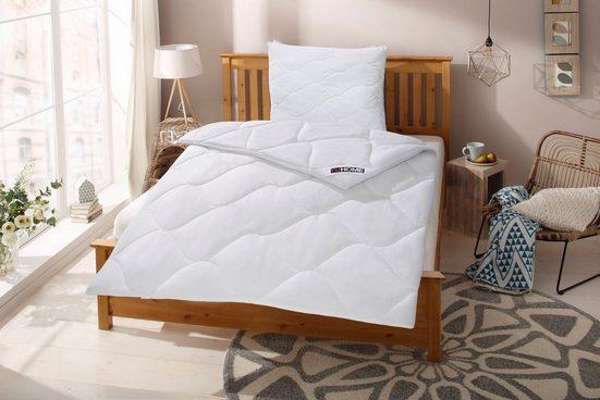 Kunstfaserbettdecke, »Schlafkomfort«, my home, warm, (1-tlg), wärmende Ganzjahresbettdecke mit integrierter Klimakontrolle