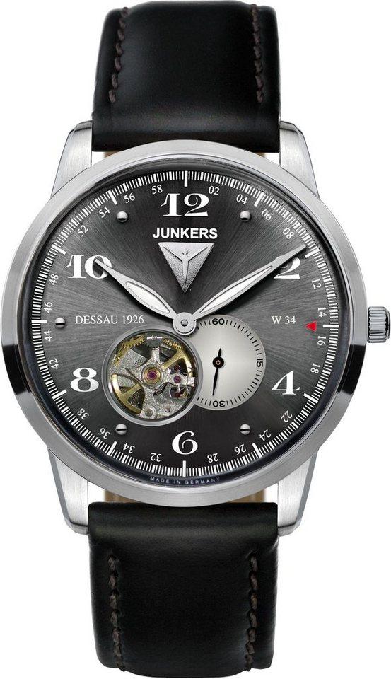 Junkers-Uhren Automatikuhr »Dessau 1926 Flatline, 6360-2« in schwarz
