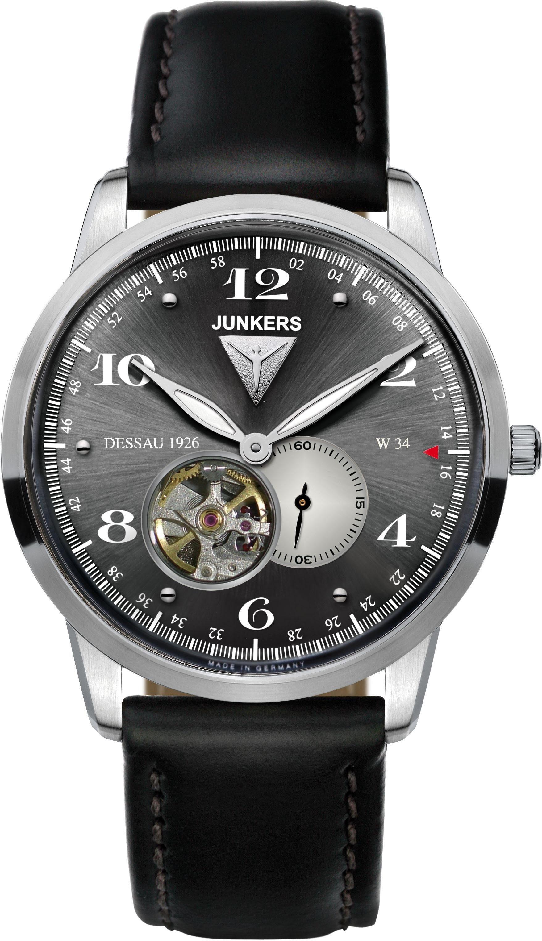 Junkers-Uhren Automatikuhr »Dessau 1926 Flatline, 6360-2«