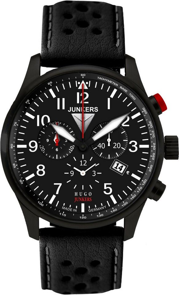 Junkers-Uhren Chronograph »Hugo Junkers, 6680-2« in schwarz