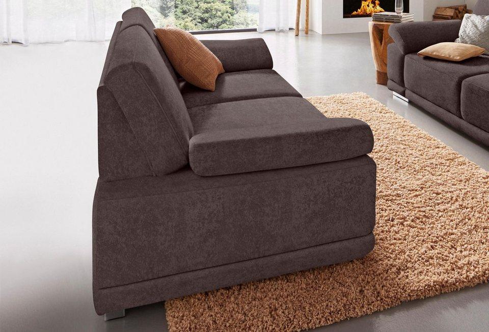 Sit & More 2, 5-Sitzer in braun