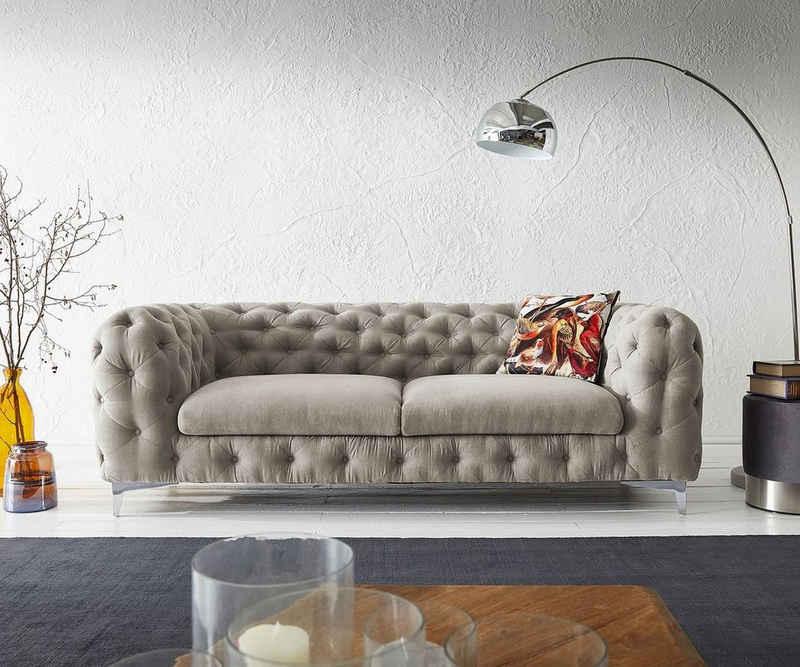 DELIFE 3-Sitzer »Corleone«, Beige 225x97 cm 3-Sitzer Couch