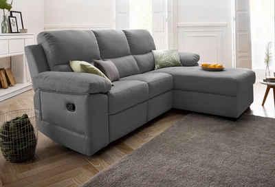 ATLANTIC home collection Ecksofa, mit Relaxfunktion und Federkern