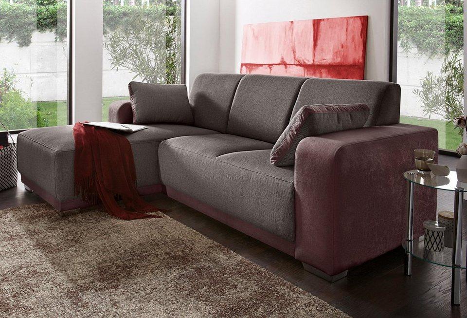 polsterecke mit recamiere inklusive armlehnkissen otto. Black Bedroom Furniture Sets. Home Design Ideas