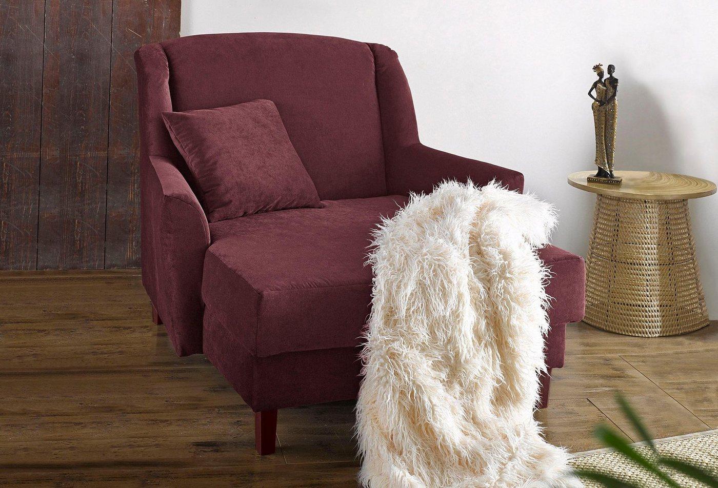 Max Winzer® XXL Sessel »Julia«, IBIZA, mit nussbaumfarbenen oder naturfarbenen Holzfüßen