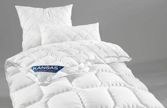 Microfaserbettdecke, »Kansas«, f.a.n. Frankenstolz, 4-Jahreszeiten, Füllung: Polyesterfaser, Bezug: 100% Polyester, (1-tlg), f.a.n.-Topseller - seit Jahren bestens bewährt
