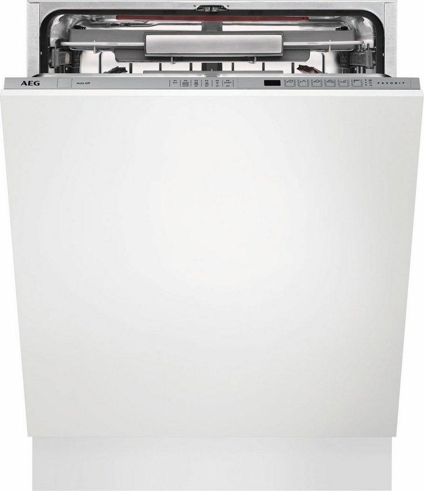 AEG Vollintegrierbarer Einbaugeschirrspüler FSE62800P, A++, 11 Liter, 13 Maßgedecke
