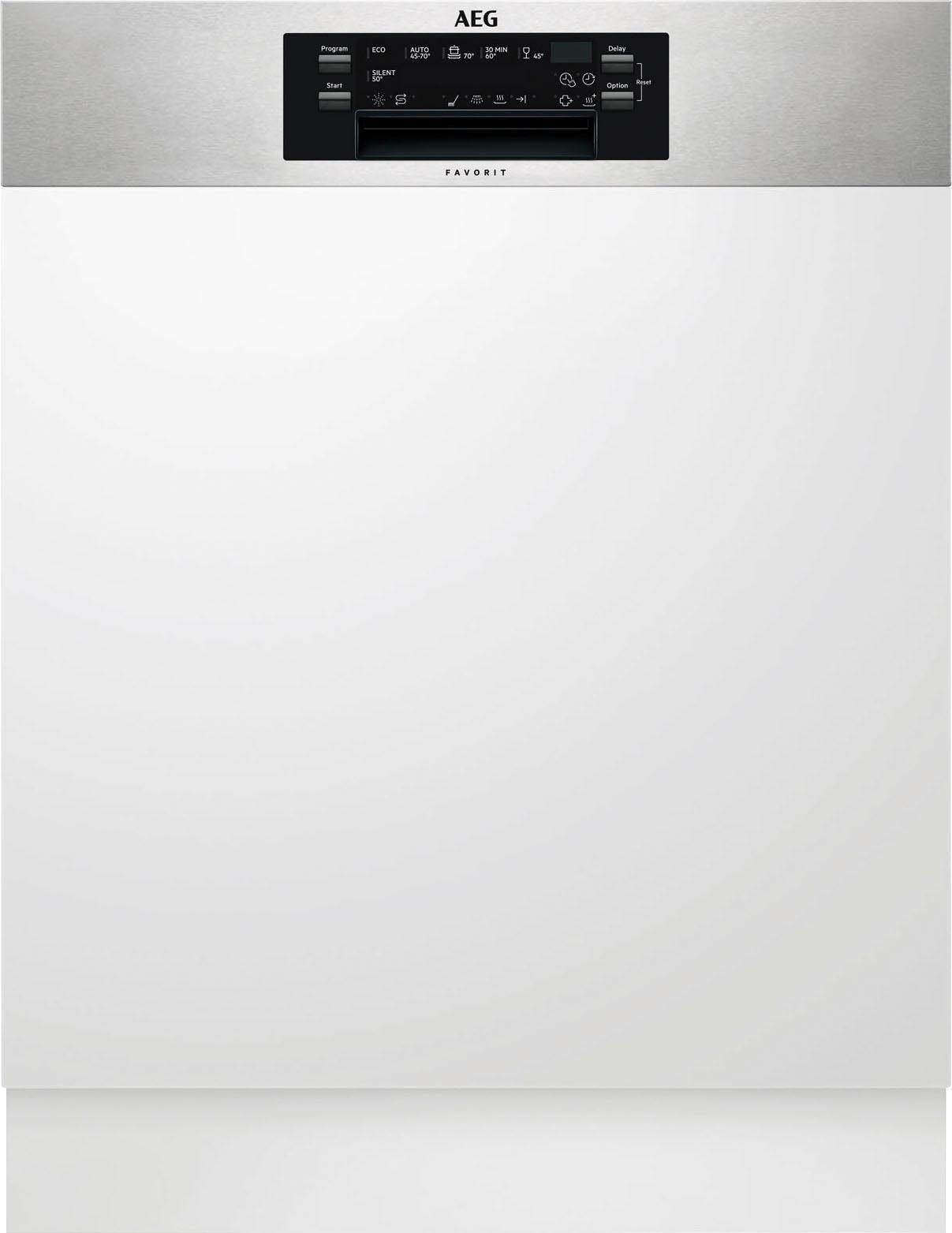 AEG Teilintegrierbarer Geschirrspüler FEE62800PM, A++, 11 Liter, 13 Maßgedecke