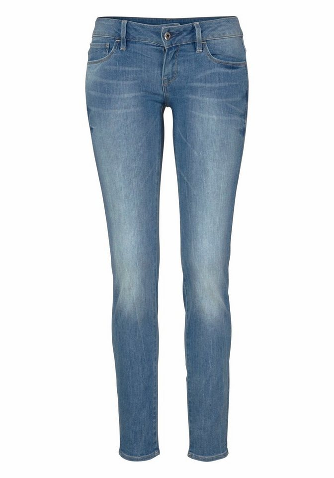 G-Star Skinny-fit-Jeans »3301 Deconst Low Skinny« mit Stretch in light-aged