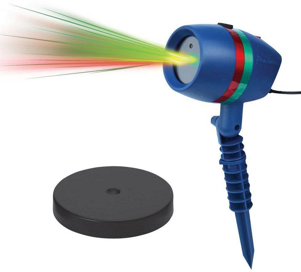 TV Werbung Bewegliches Laserlicht System inkl. Indoor-Sockel, »Star Shower Motion« in blau
