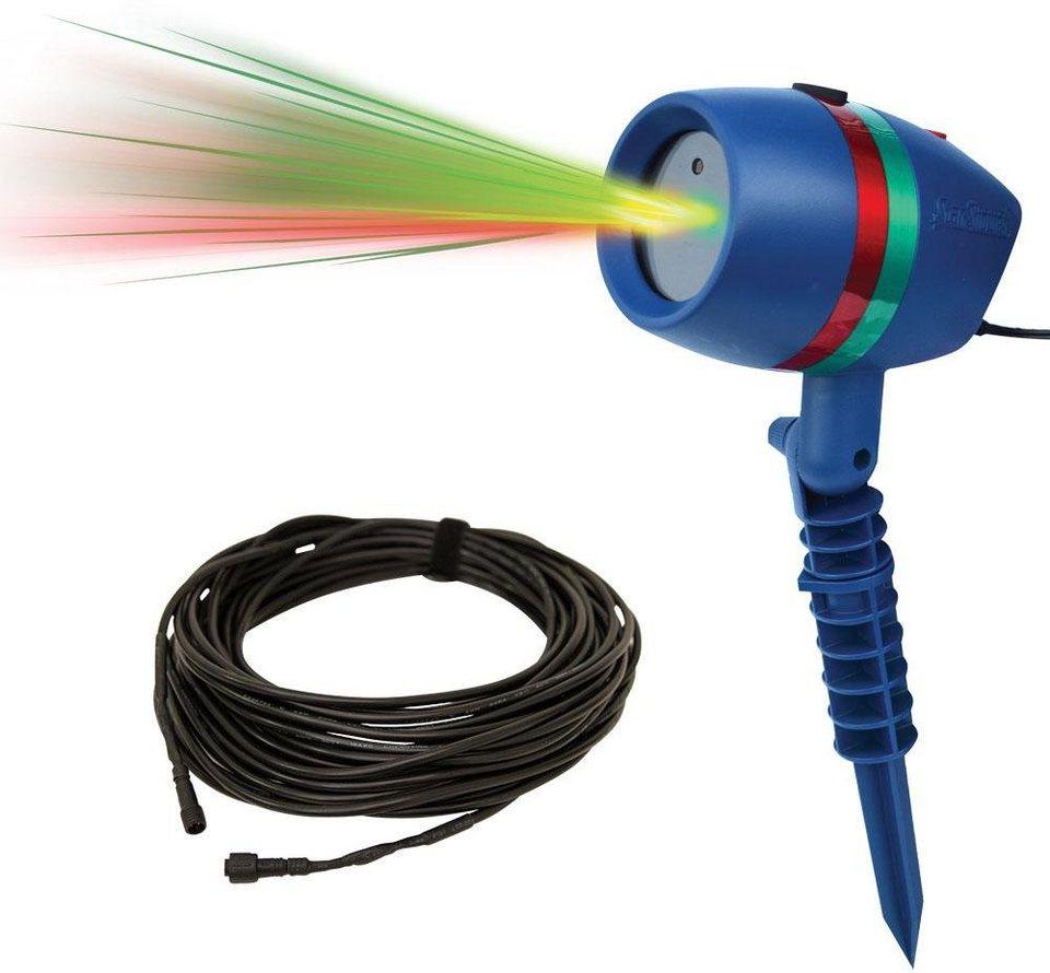 TV Werbung Bewegliches Laserlicht System inkl. Verlängerungskabel, »Star Shower Motion« in blau