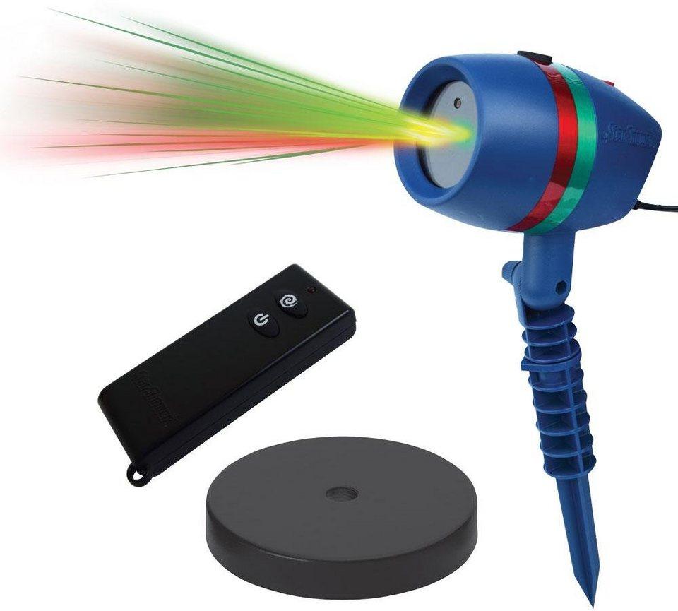 TV Werbung Bewegliches Laserlicht System mit Fernbedienung und Indoor-Sockel, »Star Shower Motion« in blau