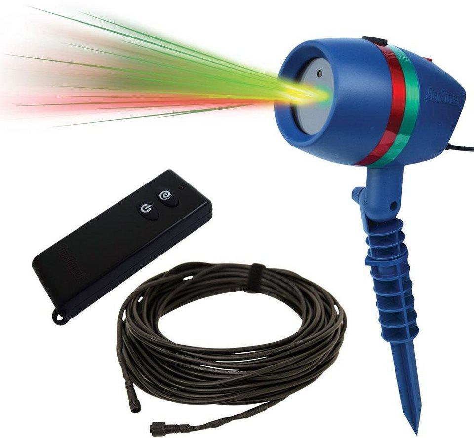 TV Werbung Bewegliches Laserlicht System m. Fernbed. u. Verlängerungskabel, »Star Shower Motion« in blau