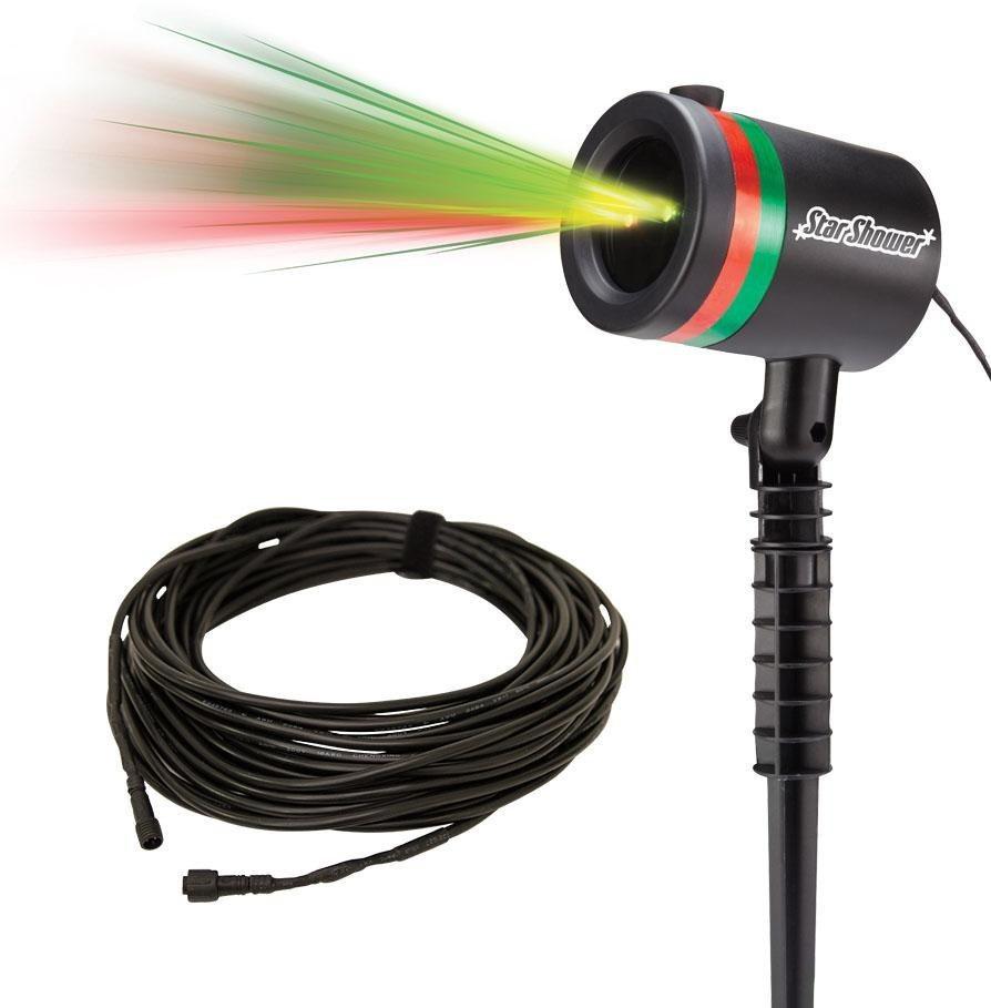 TV Werbung Laserlicht System inkl. 20 m Outdoor-Verlängerungskabel, »Star Shower« in schwarz