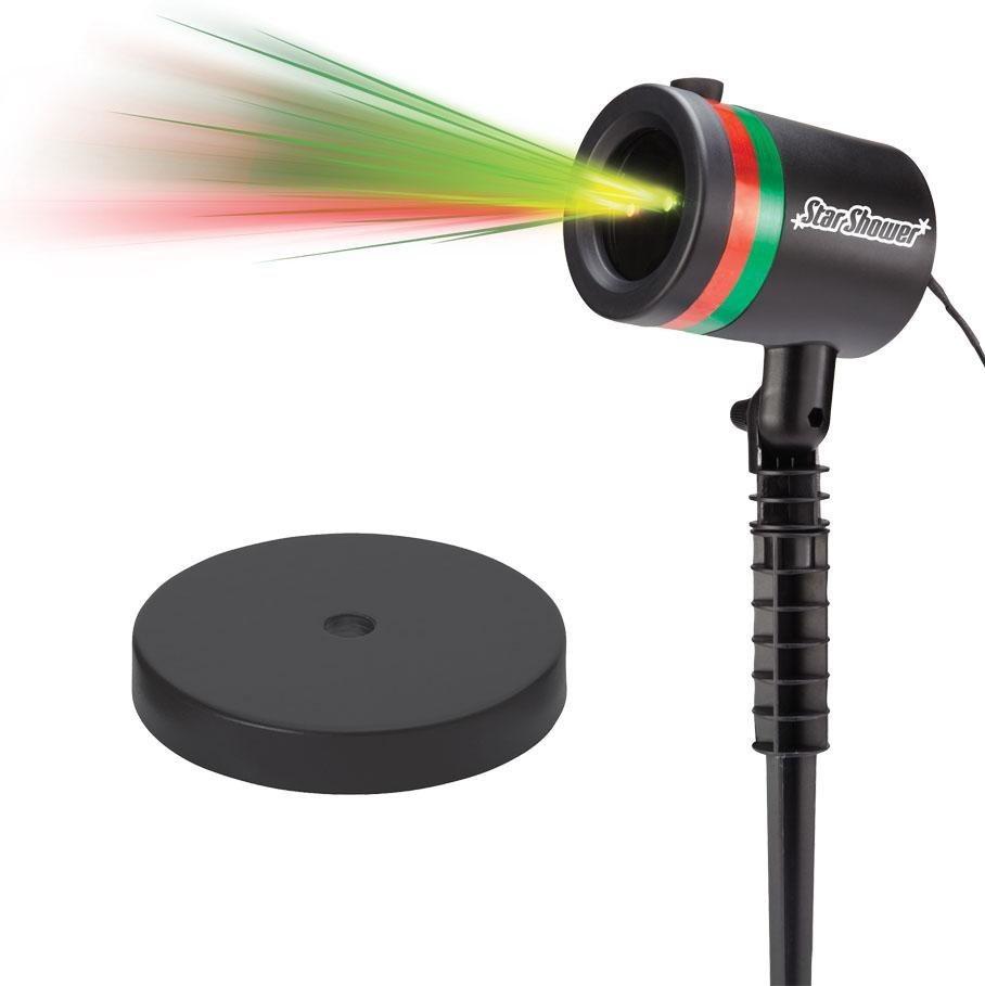 Laserlicht System inkl. Indoor-Sockel »Star Shower« in schwarz