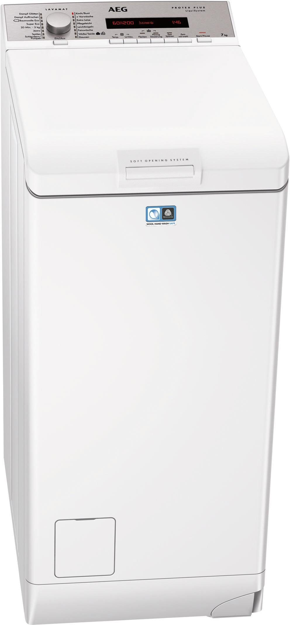 AEG Waschmaschine Toplader L7827TL, A+++, 7 kg, 1200 U/Min