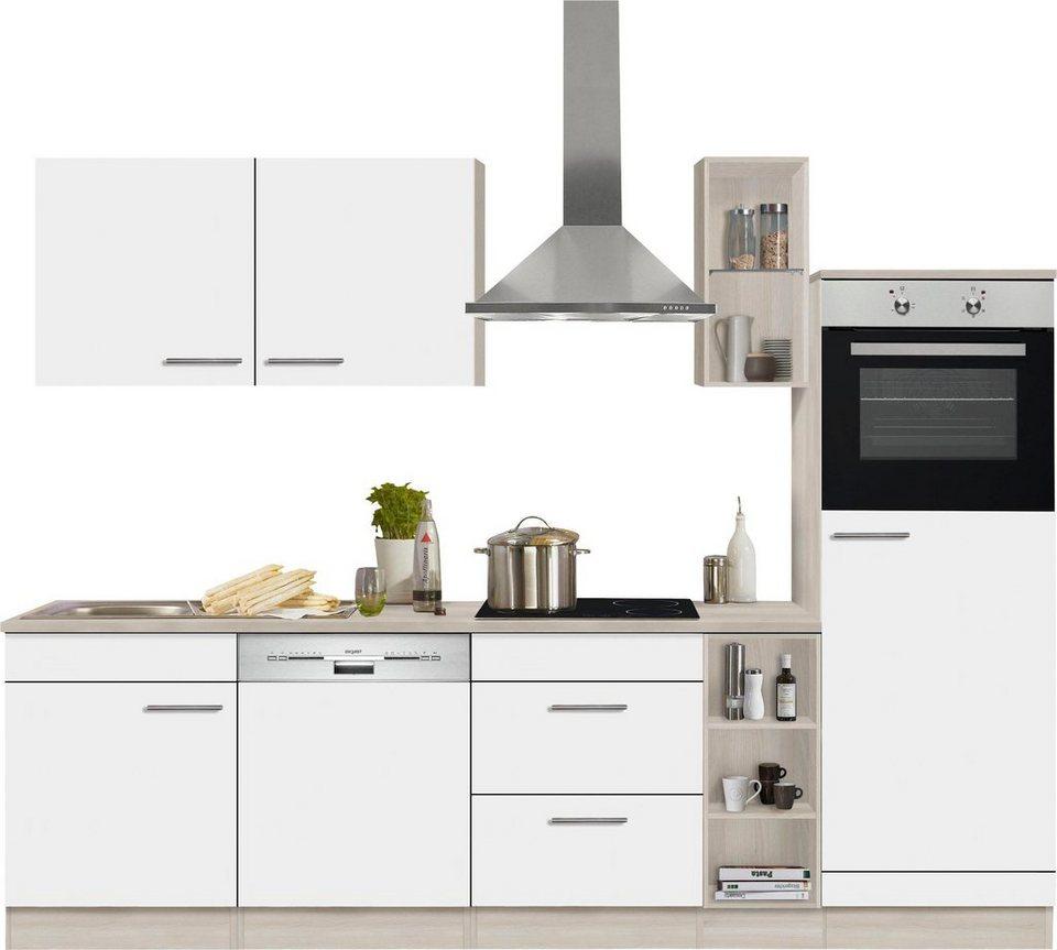Optifit Küchenzeile »Kalmar« mit E-Geräten, Breite 270 cm in weiß