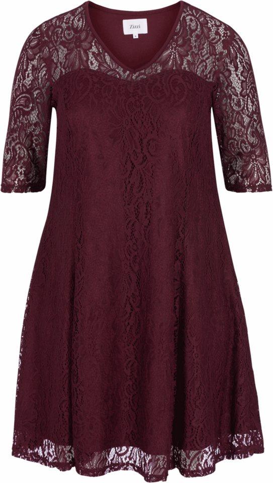 Zizzi Kleid in Winetasting
