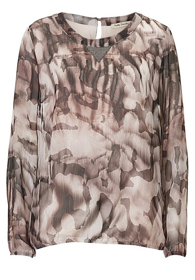 Betty Barclay Bluse in Brown/Rosé - Grau