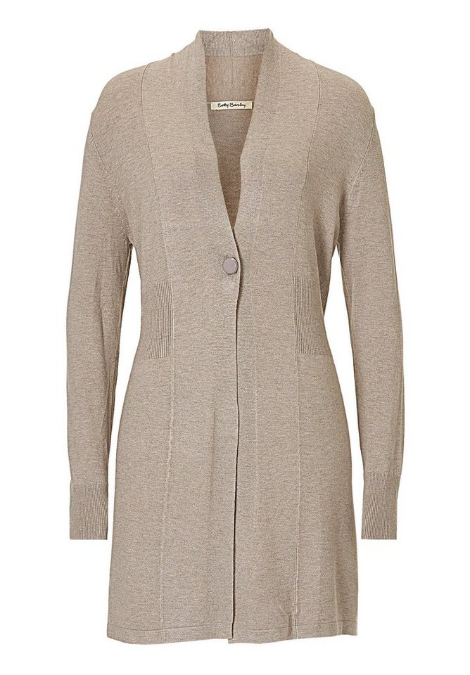 Betty Barclay Strickjacke in Taupe Melange - Bunt
