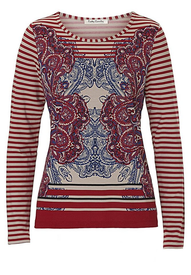 Betty Barclay Shirt in Cream/Red - Bunt