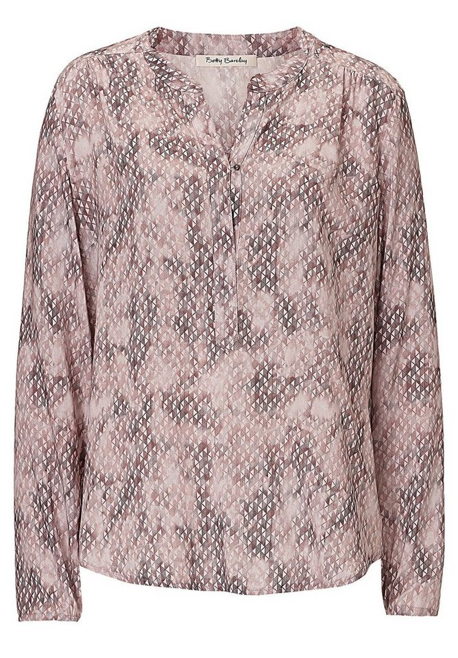Betty Barclay Bluse in Brown/Rosé - Bunt