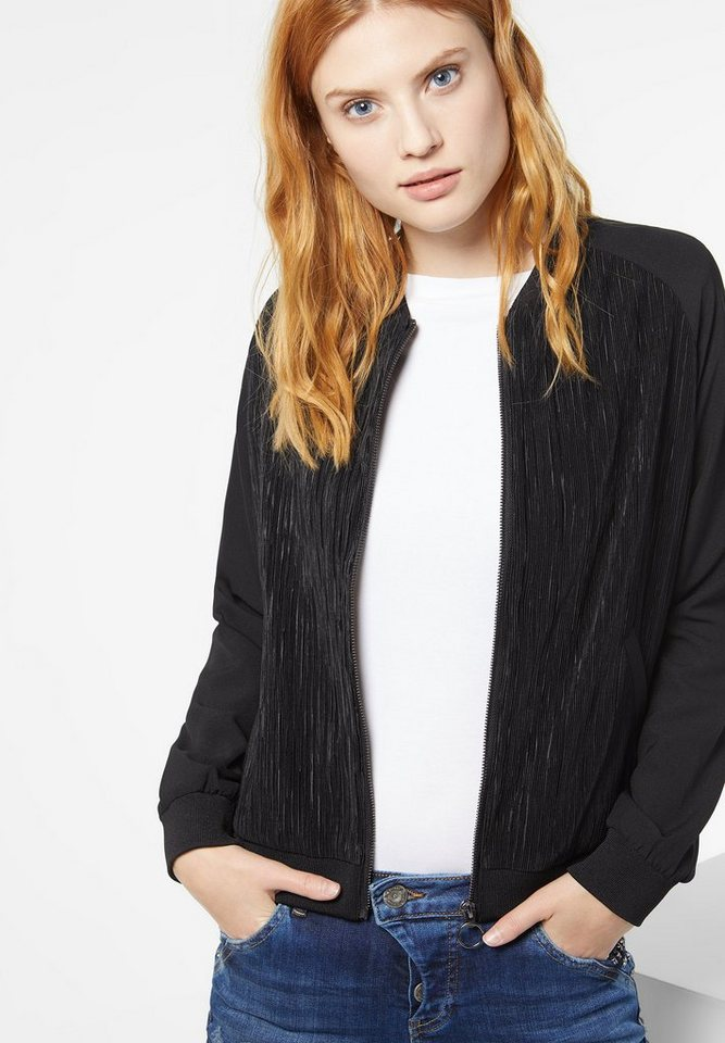 Street One Blouson mit Plissee Ivy in black