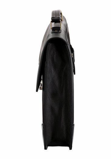 PETROLIO Aktentasche, aus hochwertigem Leder mit gepolstertem Laptopfach