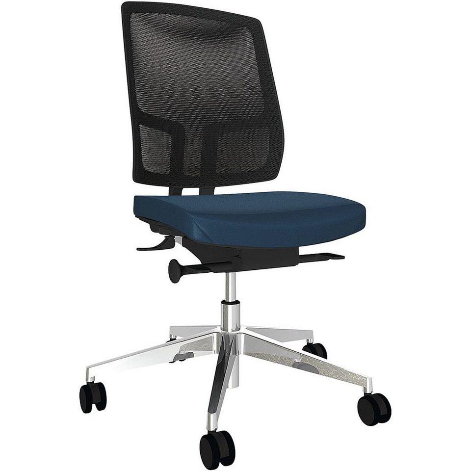 Bürostuhl »Netgo« ohne Armlehnen in dunkelblau