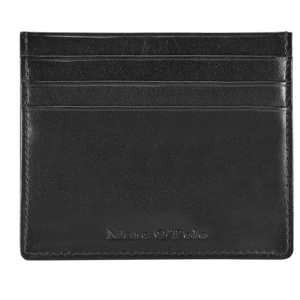 Marc O'Polo Classic Kreditkartenetui Leder 10 cm in black