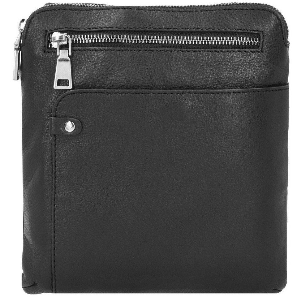 Esquire Sydney Umhängetasche Leder 22 cm in schwarz