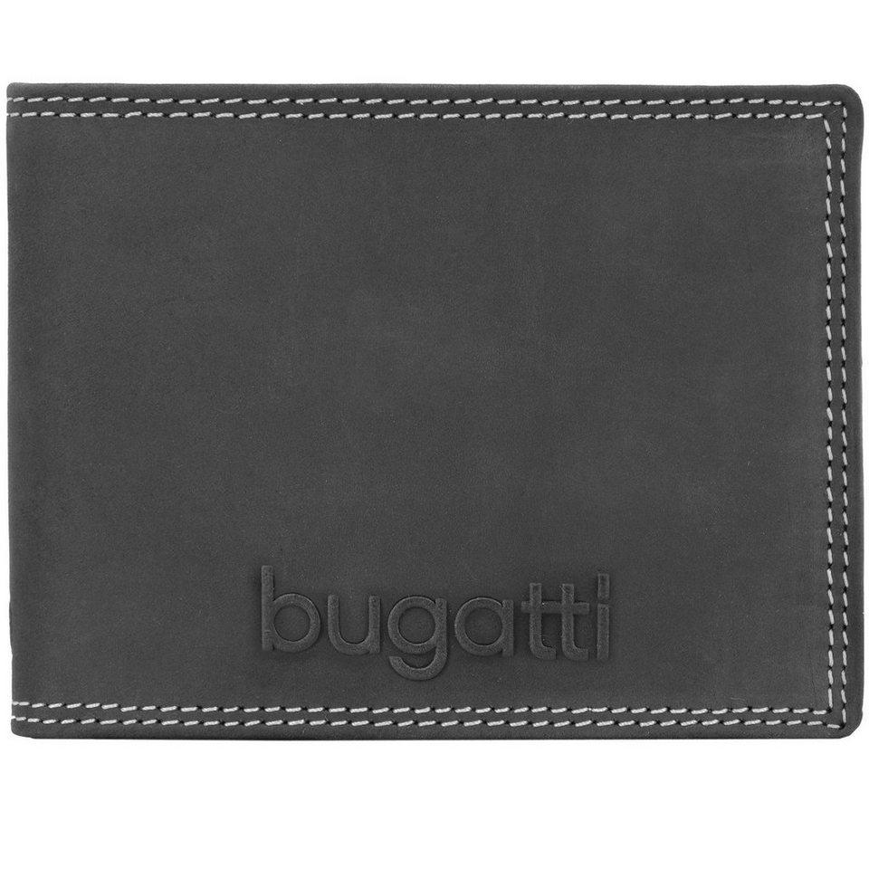 Bugatti bugatti Caracas Querformat Herren Geldbörse 493.426 Leder 12,5 c in black